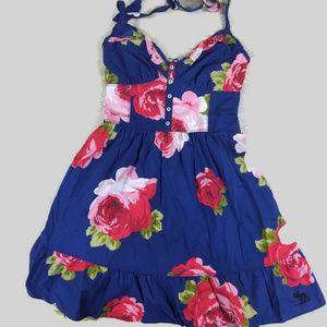 Abercrombie and Fitch Blue Halter Floral Dress